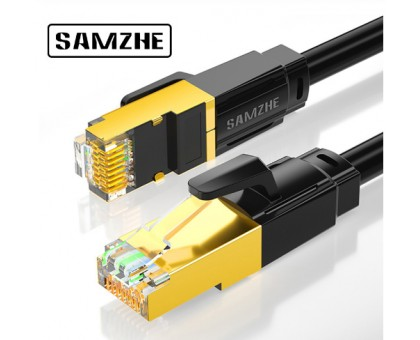 Cat8 Ethernet интернет кабель до 40 Гбит/с для RJ45 от SAMZHE длина 0.5, 1, 1.5, 2, 3 метра