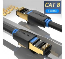 Cat8 Ethernet кабель до 40 Гбит/с для RJ45 от Vention длина 0.5, 1, 1.5, 2, 3 метра